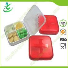 Großhandel Schweizer 4 Fällen Raster Pille Box; Plastikpille-Kasten