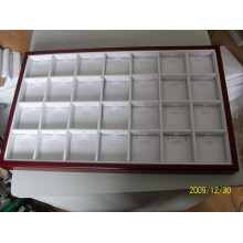 28 Slots Jewelry Pendant Wooden Coating Display Box Tray Wholesale (TY-28P-WWL)