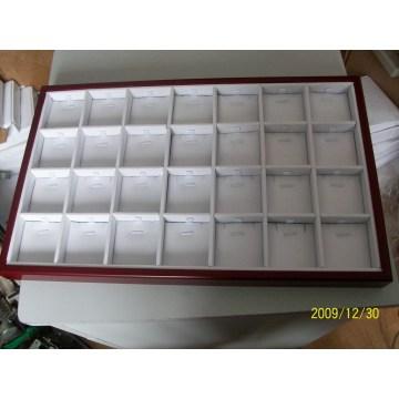 28 слотов ювелирных изделий подвеска деревянного покрытия дисплей лотка оптовой (TY-28P-WWL)