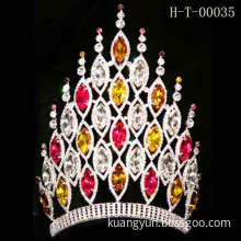 color stone of tall tiara wholesale pageant crowns