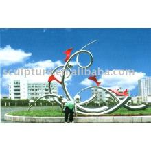 Edelstahl Garten Skulptur