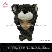 Зимняя шапка для мальчиков с рисунком медведя