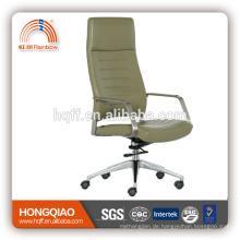 CM-B194AS Armlehne Bürostuhl mit hoher Rückenlehne aus Leder / PU Drehstuhl aus Edelstahl
