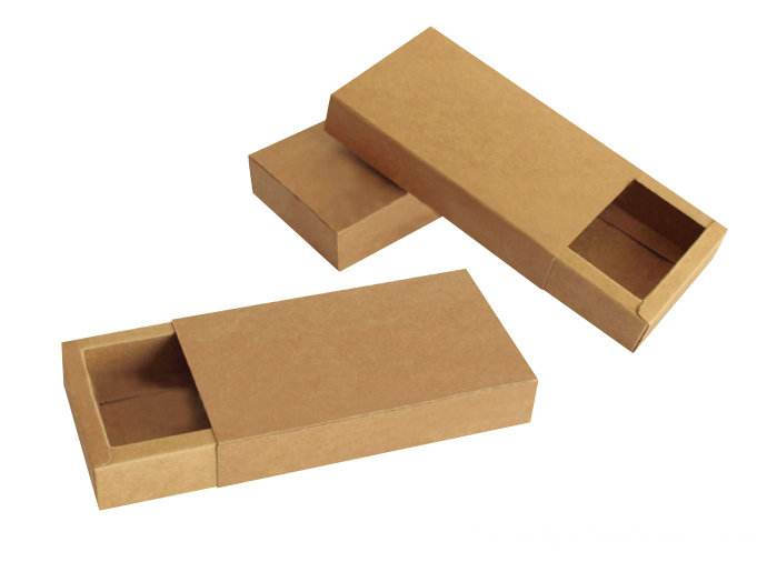 Kertas Flat Foldable Kraft Paper Sliding Laci Boxes