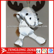 New material stuffed deer shape plush reflective toys