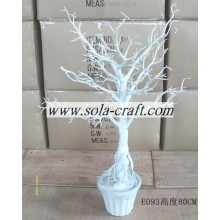 80CM White Wedding Centerpiece Tree By Branch Holder