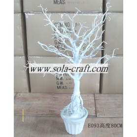 80CM White Wedding Centrotavola Tree By Branch Holder