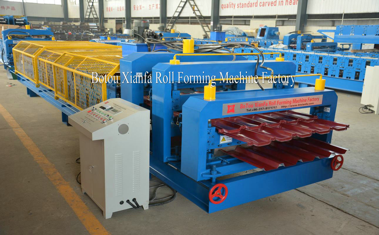 glazed tile roofing sheet machine