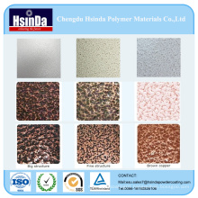 Various Colour Metallic Hammer Texture Powder Paint Spray Coating