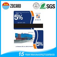 Cartão de presente VIP de PVC plástico para supermercado