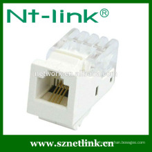 Белый инструмент типа 6P4C cat3 rj11 keystone jack