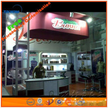 proveedor de stand de stand de stand de aluminio shell esquema de iluminación para stand de feria