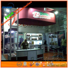 supplier of aluminum lighting shell scheme standard booth stand for trade fair booth