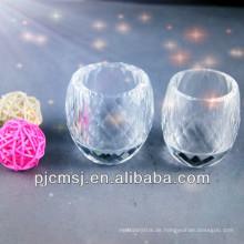 2015 Großhandel schöne einzigartige schöne kristall tasse für trinken oder dekoration kreisförmig