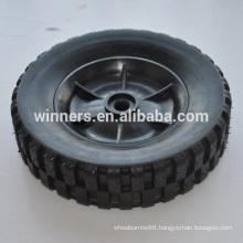 8 inch small plastic solid rubber wheel