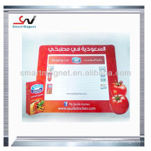 Boîtier magnétique magnétique de réfrigérateur publicitaire pvc bon marché