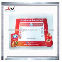 Cheap pvc writable Advertising fridge magnetic memo pad