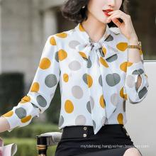 Chiffon DOT Shirt Women New Spring Fashion Office Work Tops