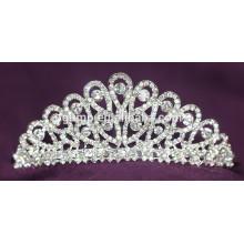 Crystal nupcial corona de diamantes de imitación tiara de la boda