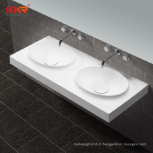Oval matte white solid surface wash basin factory price