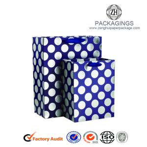 OEM coated paper shopping bags for gifts