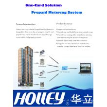 Solução de cartão único com medidor de utilidade pré-pago
