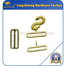 Boucles de serpent maçonniques en alliage métallique plaqué or