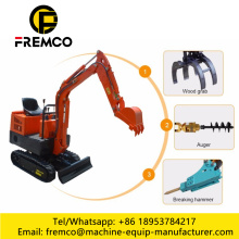 Soil Excavator for River Bank Construction