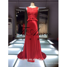 1A215 Real Picture Qualidade Top China Factory Made Lace Red Wedding Dress