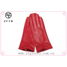 2015 customed fashion Lady Leather Touch Screen Glove