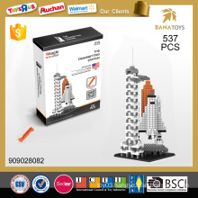 Best sell educational toy The transmitting station 537 pcs building block
