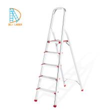 Escalera de 4 peldaños con riel de seguridad, aluminios, productos chinos.