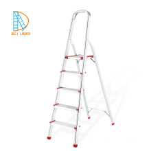 5 steps aluminum house hold folding step ladders with handrail alibaba china supplier