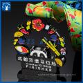 Médailles de finisseur de marathon en couleur 3D avec logo panda chinois