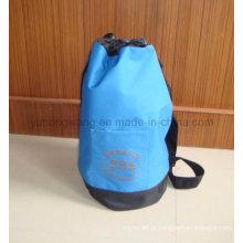 Publicidade Poliéster Round Duffer Drawstring Bag