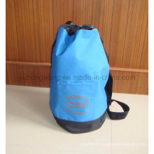 Publicité Polyester Round Duffer Drawstring Bag