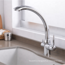 YL-630 Dual handle 3 way kitchen sink water purifier faucet stainless steel kitchen sink mixer tap