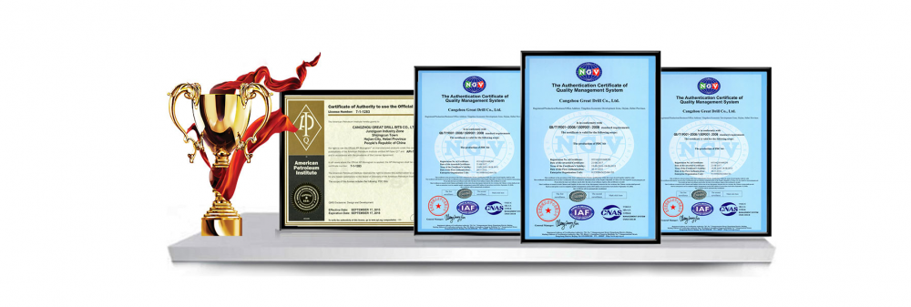 Great Drill Bits Certificates