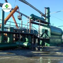 Huile de pyrolyse / huile moteur usée Machine de raffinerie pour carburant diesel
