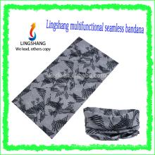 Bandana al aire libre de múltiples funciones al por mayor de la manera de Ningbo Lingshang para el cuello principal y el bandana inconsútil del tubo de la cara