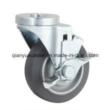 Bolt Hole Middle Duty Caster, Freio lateral TPR Caster