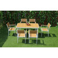 Garden Patio Wooden Dining Table Chairs Outdoor Modern European Restaurant Furniture