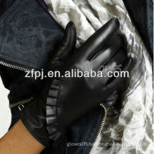 2015 fashion tight sheep leather gloves with personality design