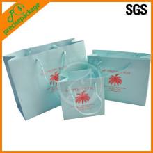 Papiereinkaufstasche weiße Kraftpapiertasche für Förderung