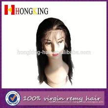 2014 usine en gros de cheveux humains Front Lace Wig