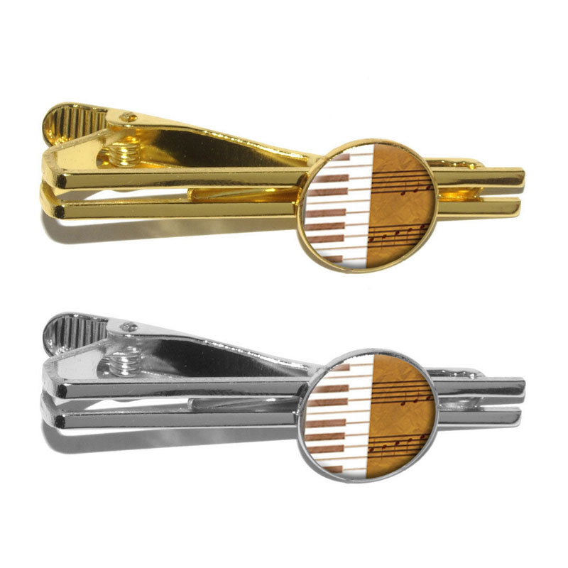 Gold Piano Keys Tie Bar
