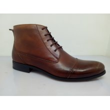 Brown Mens Lace Ankle Boots Nx 527