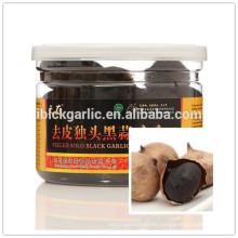 Organic aged peeled single clove black garlic seeds made from fresh white garlic