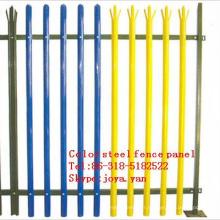 Panneau de clôture en acier de couleur