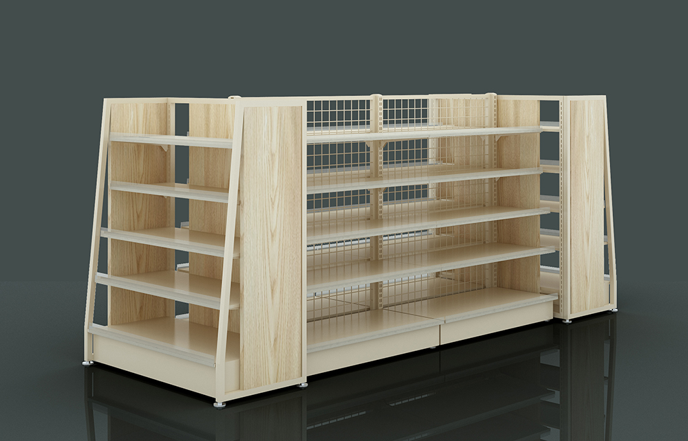 Steel And Wooden Shelf For Retail